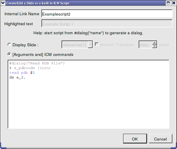 ICM User's Guide: How to Make Molecular Documents - Link HTML Text